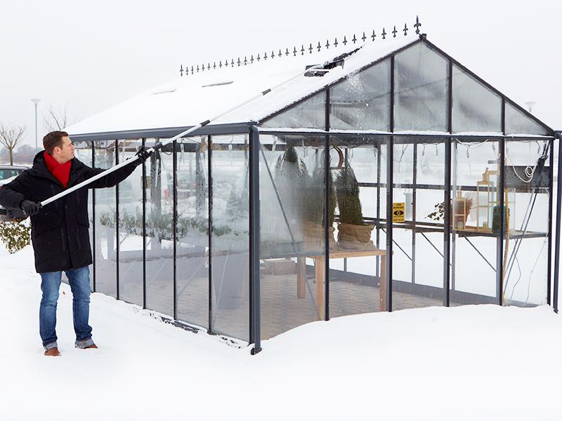 Kestääkö kasvihuone lumen painon?